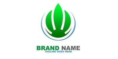 Green Fire Logo Template