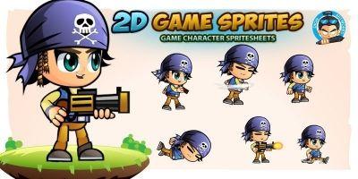 JackPirate Game Sprites