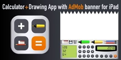 Calculator And Drawing App With AdMob Banner iPad