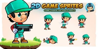 Leonard 2D Game Character Sprites