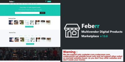 Feberr - Multivendor Digital Products Marketplace