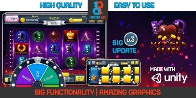 Modern Suits Slot Unity Game Template