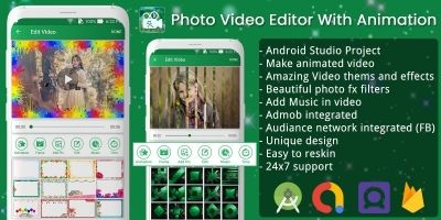 Photo Video Editor With Animation - Android Source