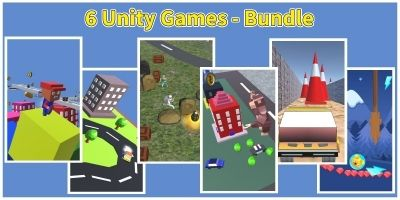 6 Android Unity Games Bundle