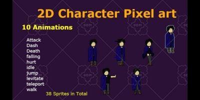Mage 2D Pixelart Character