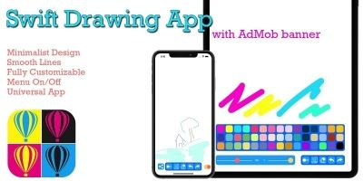Swift Drawing App With AdMob Banner iOS