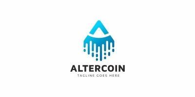 A Letter -  Altercoin Logo