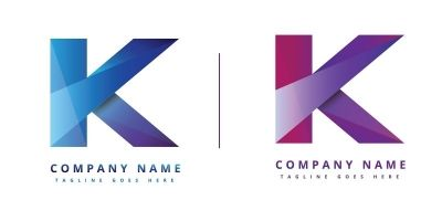 Simple K-logo design vector