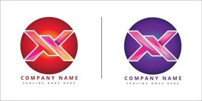 X company Logo Sesign Inspiration Vector