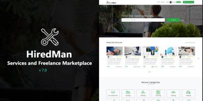 HiredMan - Services Freelance Marketplace Script