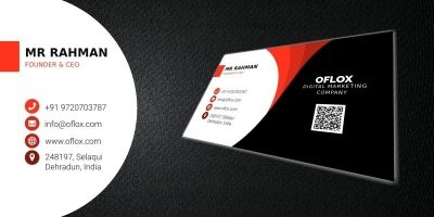 Oflox Business Corporate Card Template