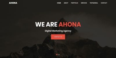 Ahona - Multipurpose one page HTML Template