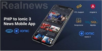 Real News - PHP To Ionic Mobile App