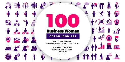 Business Woman Color