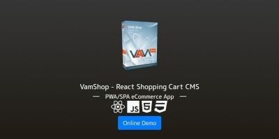VamShop - React Shopping Cart CMS