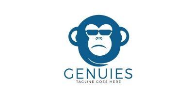 Genius Monkey Logo Design