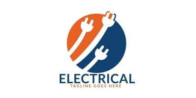 Electrical Plug Logo Design
