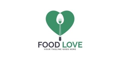 Food Love Logo Design