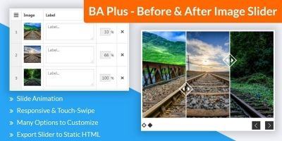 BA Plus - Before And After Image Slider WordPress