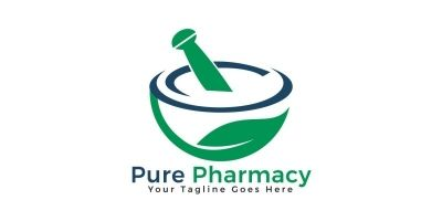 Pure Pharmacy Vector Logo Design