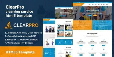 ClearPro - Cleaning Service HTML5 Template