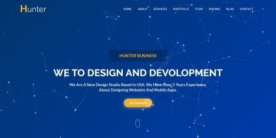 Hunter - One page Corporate HTML5 Template