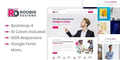 Roobig Designs - HTML Template