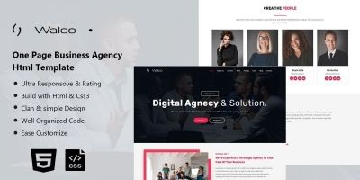 Walco - One Page Business HTML Template
