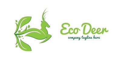 Eco Deer Logo Template