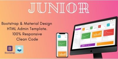 Junior - Material And Bootstrap HTML Admin Panel