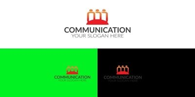 Communication Company Logo Design Template