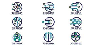 Professional Tech Logo Design Template