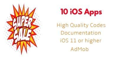 10 iOS App Source Code Bundle