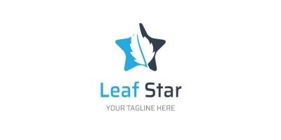 Star Leaf Shape Logo