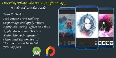 Overlay Photo Shattering Effect - Android Studio