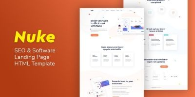 Nuke - SEO And Software Landing Page HTML Template