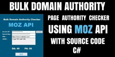 Bulk Domain Authority Checker C#