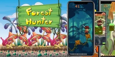 Forest Hunter - Game Adventure Buildbox Template
