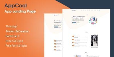 AppCool - Creative App Landing Page