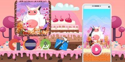Sweet Candy Yeti Adventure - Template Buildbox