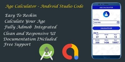 Age Calculator - Android Studio Code