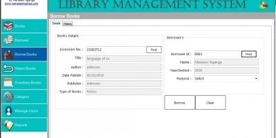 Graphical Library System VB.NET
