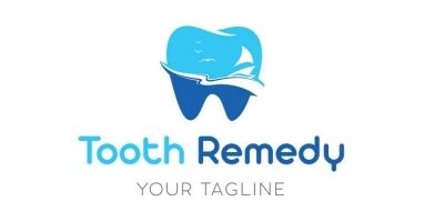 Blue Teeth Dentist Logo Design