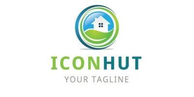 Hut Circle Shape Logo
