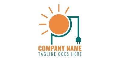 Simple Solar Energy Design Logo