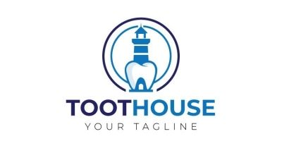 Teeth House Shape Logo