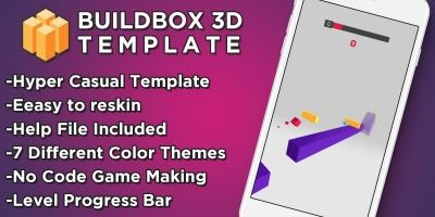 Flippy Cube - Buildbox 3D Hyper Casual Game