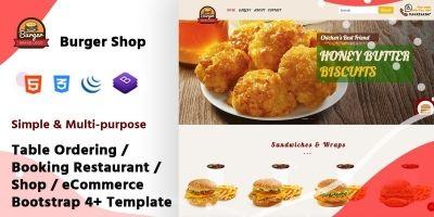 Multi-purpose Table Ordering Restaurant Template