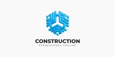 Construction - Hexagon Abstract 3D Logo