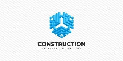 Construction - Hexagon Abstract 3D Logo